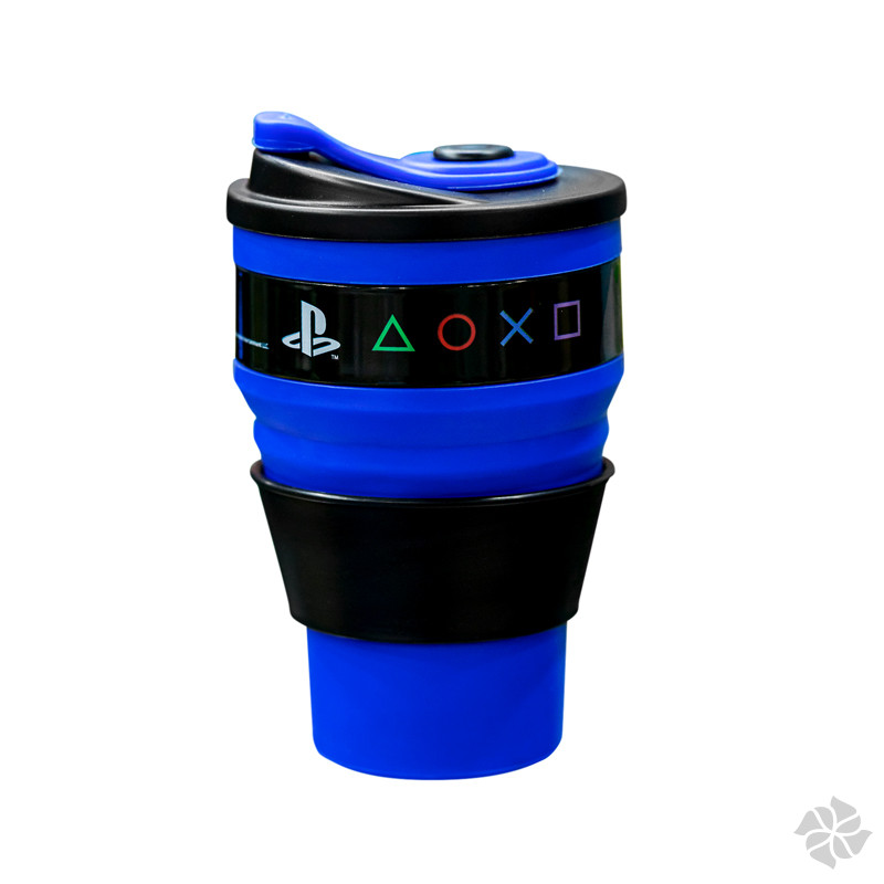 COPO RETRATIL AZUL 400ML PLAYSTATION