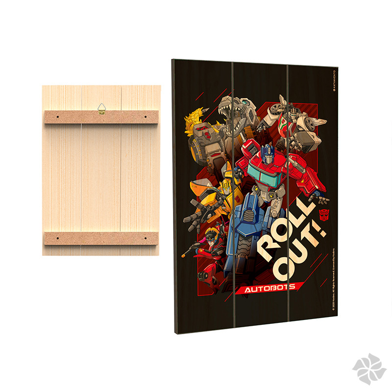 PLACA DECORATIVA  TRANSFORMERS - MOD.03 - ROLL OUT